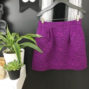 Anthro. HD in Paris Purple Floral Brocade mini 4